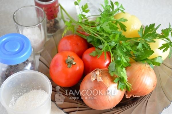 Ингредиенты для салата «Донской» на зиму