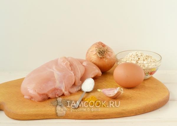 Ингредиенты для домашней куриной колбасы