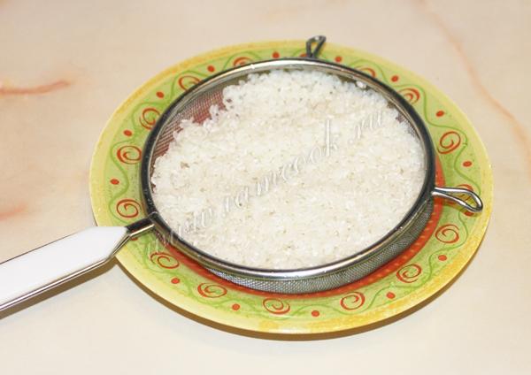 промытый рис