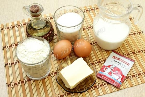 Ингредиенты для Московской плюшки