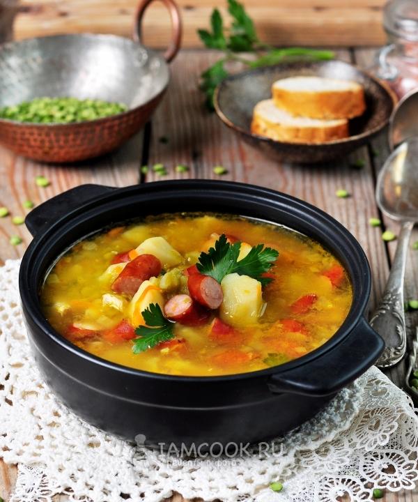способы смены суп из охотничьих колбасок рецепт с фото заменить