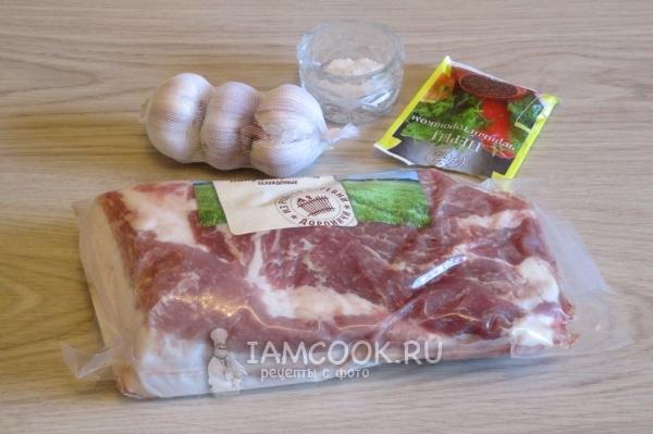 Подваренная свиная вырезка и грудинка – кулинарный рецепт
