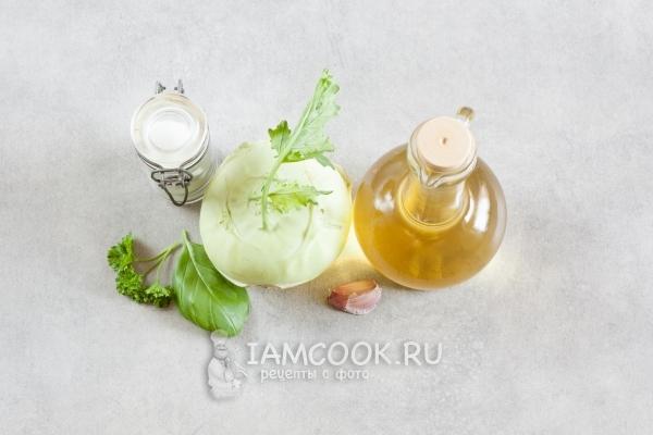 Ингредиенты для жареной кольраби