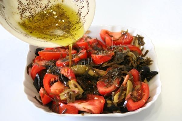 Салат помидоры морская капуста