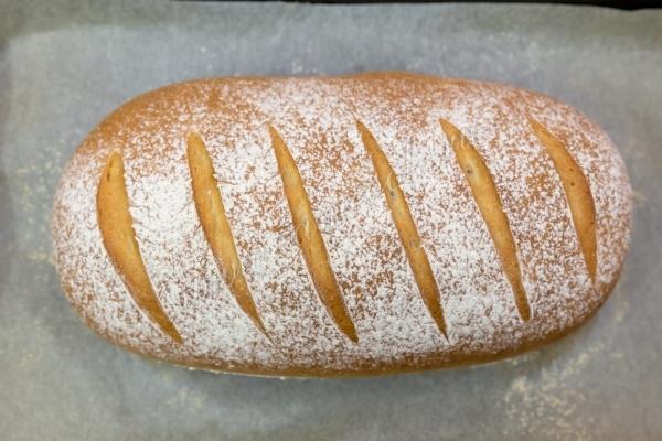 Фото готово быстрого батона белого хлеба