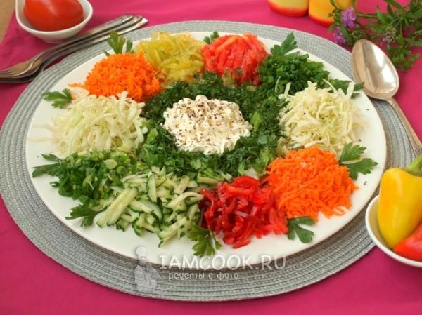 Салаты с овощами рецепты с фото
