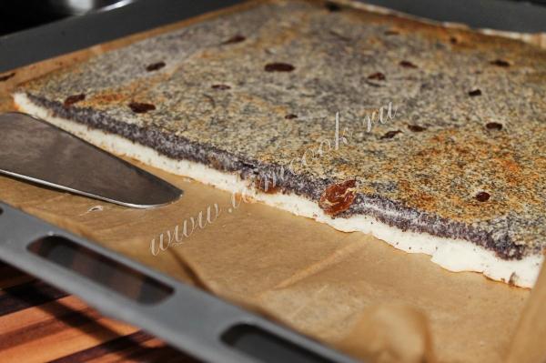 Маковый пирог с изюмом – кулинарный рецепт