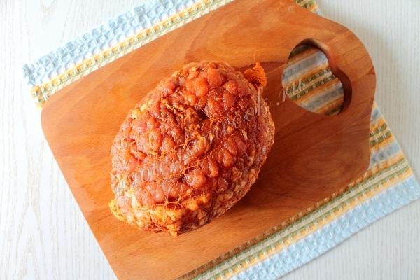 Мясо в сеточке