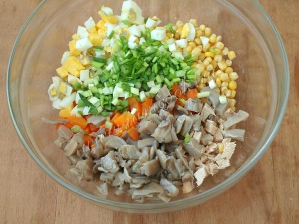 салат из курицы с вешенками рецепт