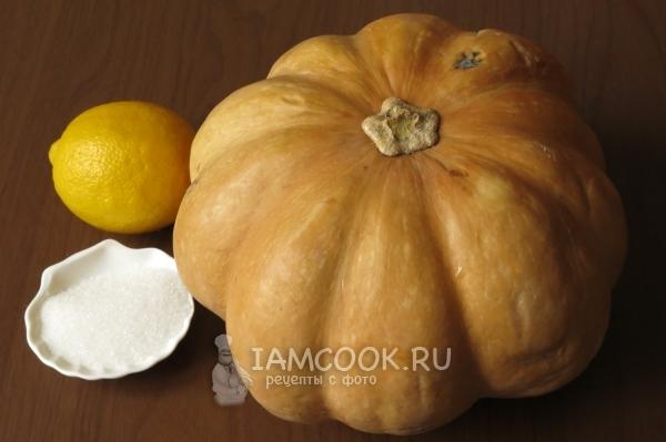 Ингредиенты для мармелада из тыквы в домашних условиях