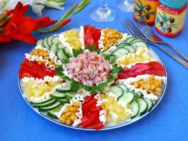 Рецепт салата мозаика картинки