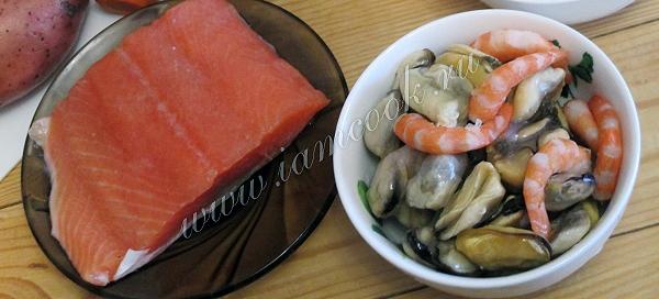 Суп чаудер с тилапией и мидиями, пошаговый рецепт с фото