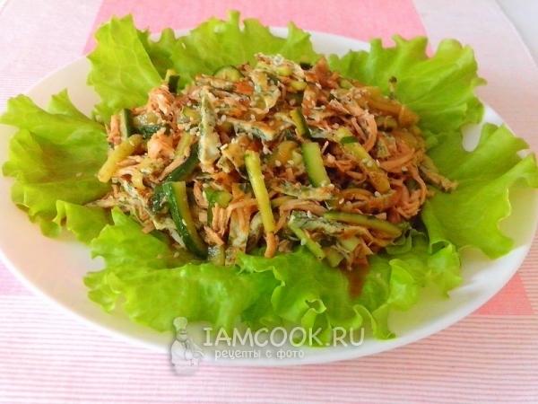 Салат со свежим огурцом яйцом и курицей — pic 4