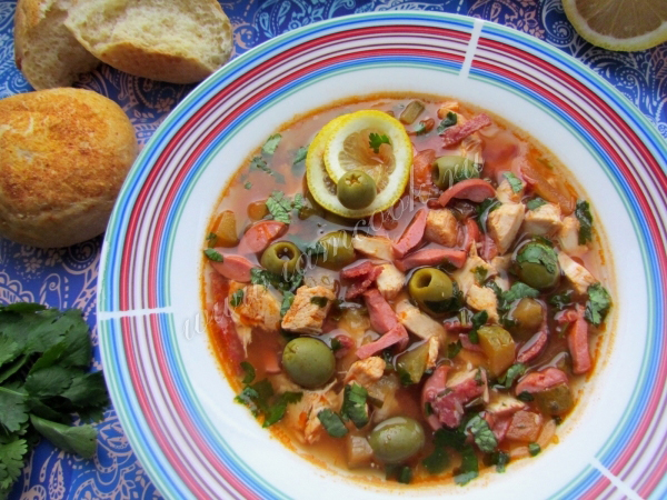 Рецепты солянки с колбасой и капустой #8