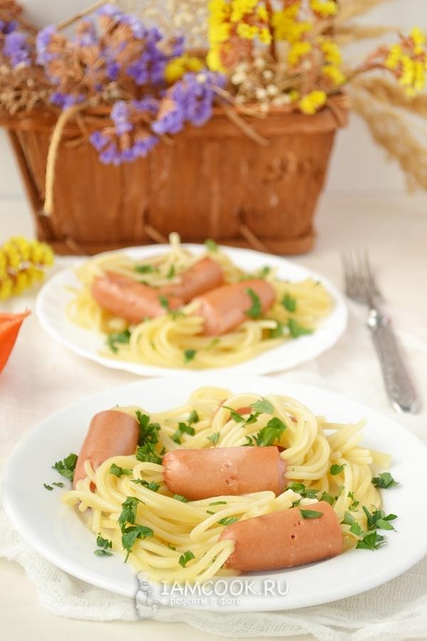 фото спагетти в сосисках