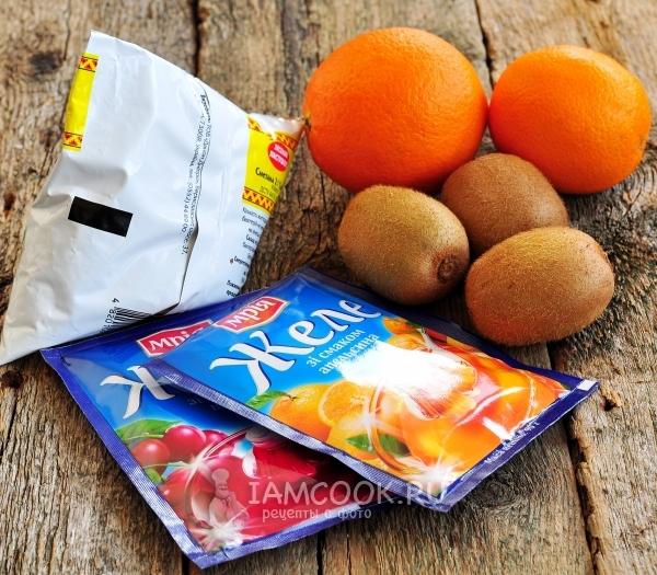 рецепт сметанного желе с фруктами