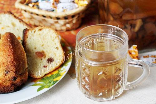 Чай с яблоками и тимьяном, пошаговый рецепт с фото