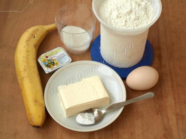 Ингредиенты для бананового печенья