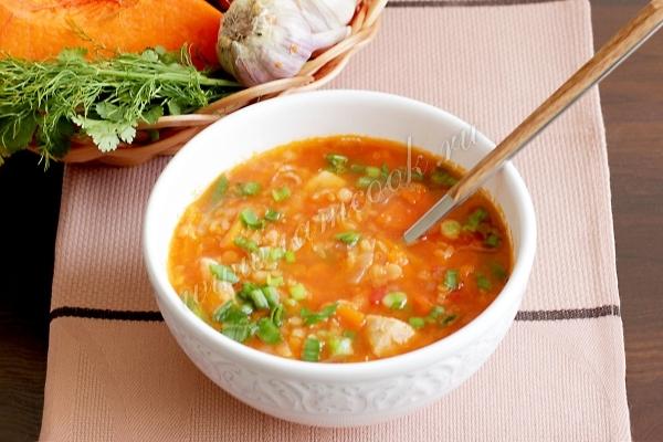 рецепт чечевичного супа с курицей
