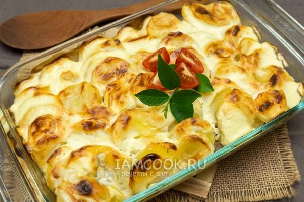 рецепт картошки со свининой в духовке