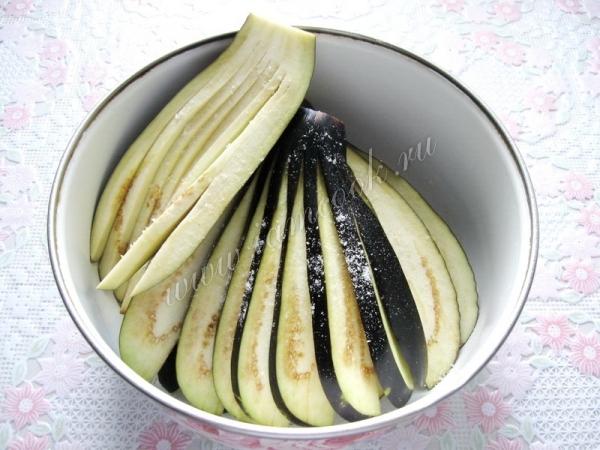 Рецепты баклажанов веером
