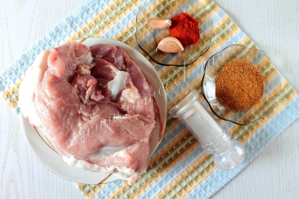 Ингредиенты для мясного ореха