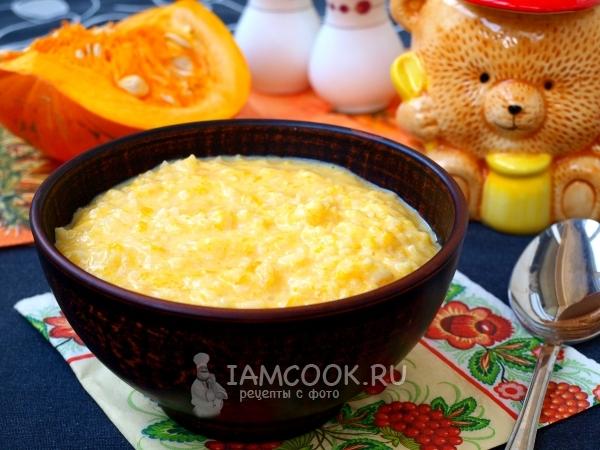Рецепт рисовой каши с тыквой на молоке