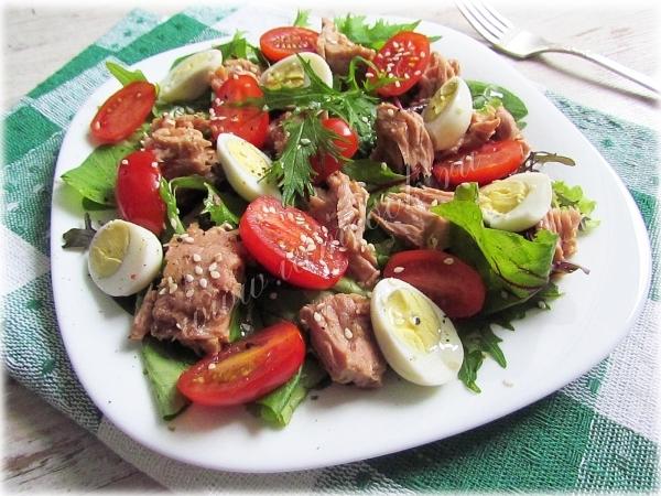 Салат из яиц и тунца консервированного рецепт #9