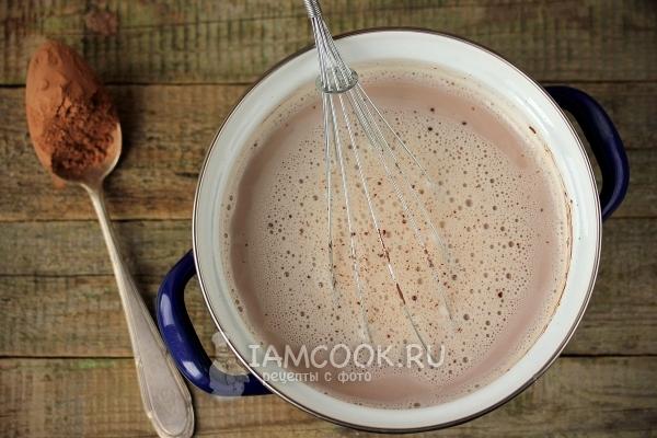 Добавить какао-порошок