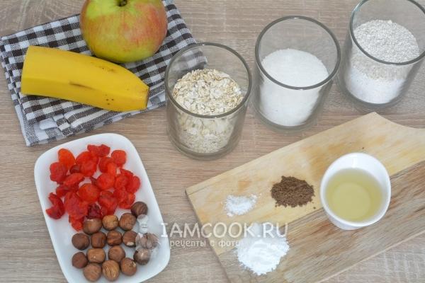 Ингредиенты для овсяного печенья из геркулеса