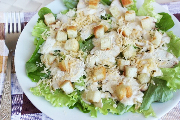 рецепты цезаря с курицей