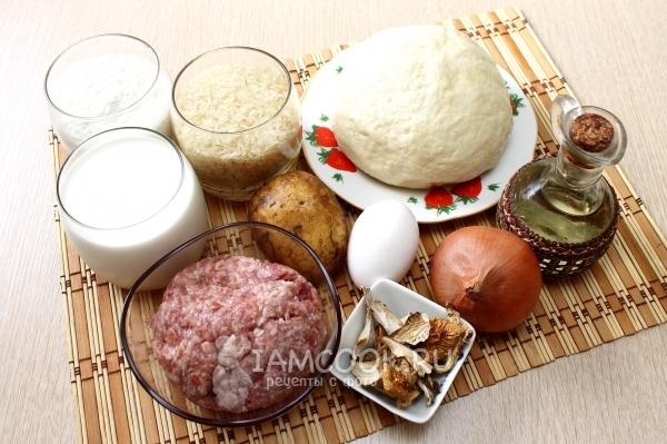 Ингредиенты для курника из блинов