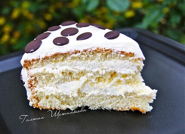 крем для белого бисквитного торта