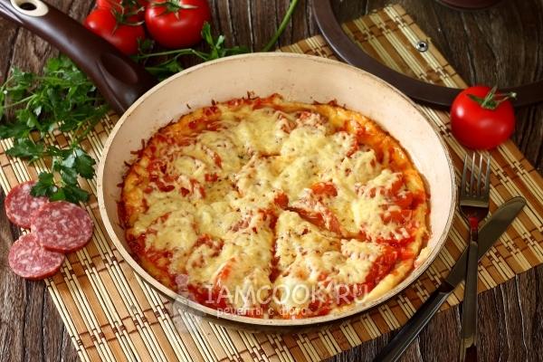 Фото пиццы за 10 минут на сковороде