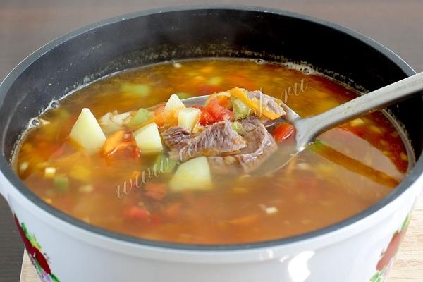 суп из консервированной фасоли с говядиной рецепт