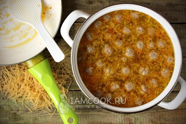 Самый простой суп сфрикадельками ивермишелью, пошаговый рецепт с фото