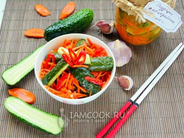 Огурцы по-корейски на зиму — рецепт с фото