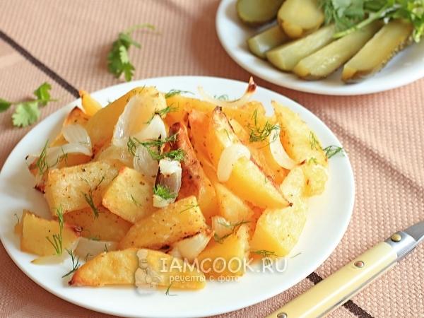 Отварная запеченная картошка в духовке рецепт