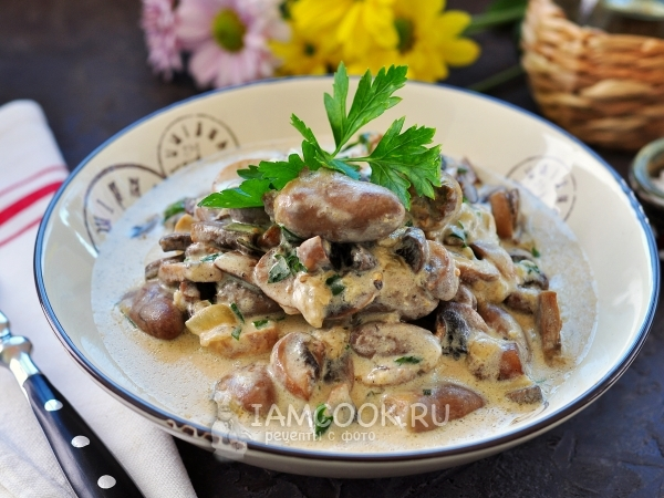 Блюда из куриных сердечек с шампиньонами