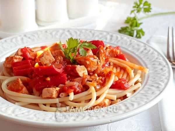 Как приготовить соус с курицей и томатной пастой