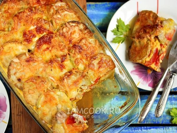 Запеканка из кабачков в духовке рецепты с фото без помидор — photo 4