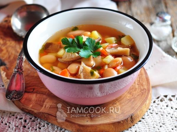 Суп с консервированной фасолью рецепт с фото пошагово #6