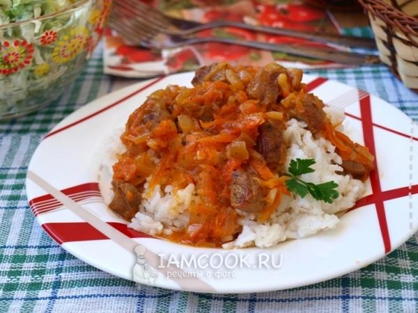 подливка для риса с рыбой