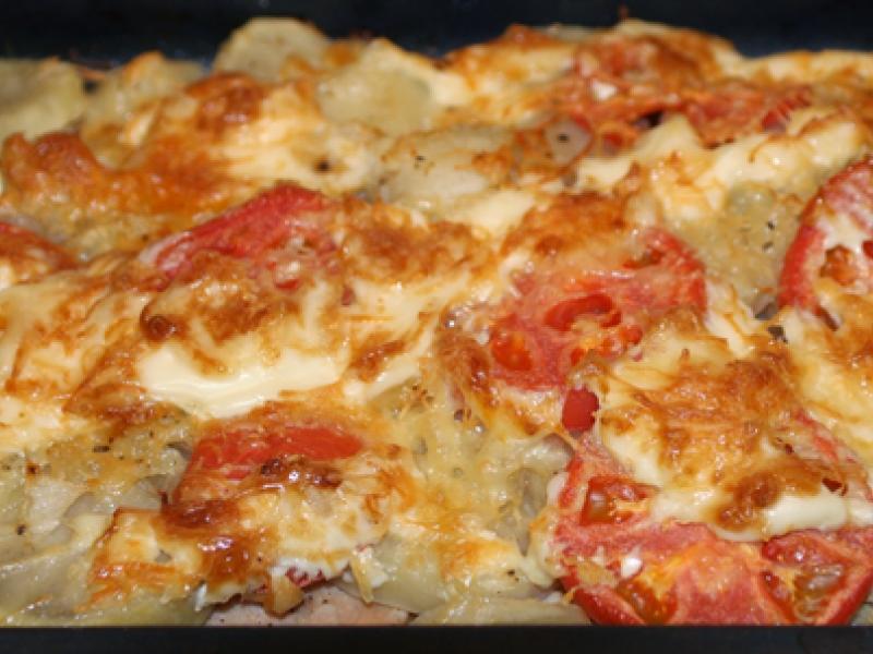 филе индейки рецепты в духовке с картошкой